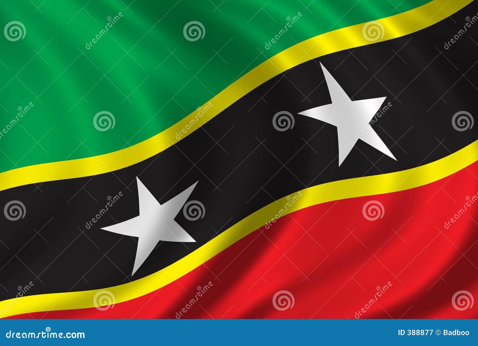 σημαιοστολίστε Kitts Nevis Άγιο&sigm