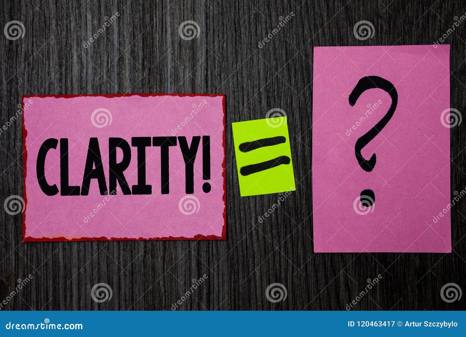 Σημείωση γραψίματος που παρουσιάζει σαφήνεια Ακρίβεια ρόδινο ν διαφάνειας δυνατότητας κατανόησης αγνότητας ακρίβειας βεβαιότητας
