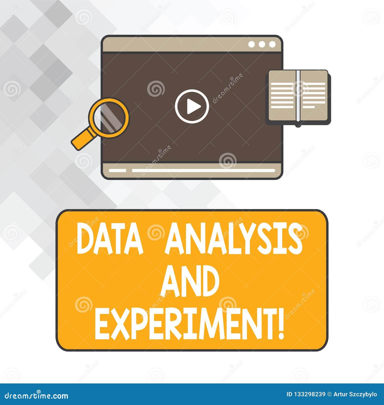 Σημείωση γραψίματος που παρουσιάζει την ανάλυση στοιχείων και πείραμα Επιχειρησιακή φωτογραφία που επιδεικνύει το τεχνολογικό βίν