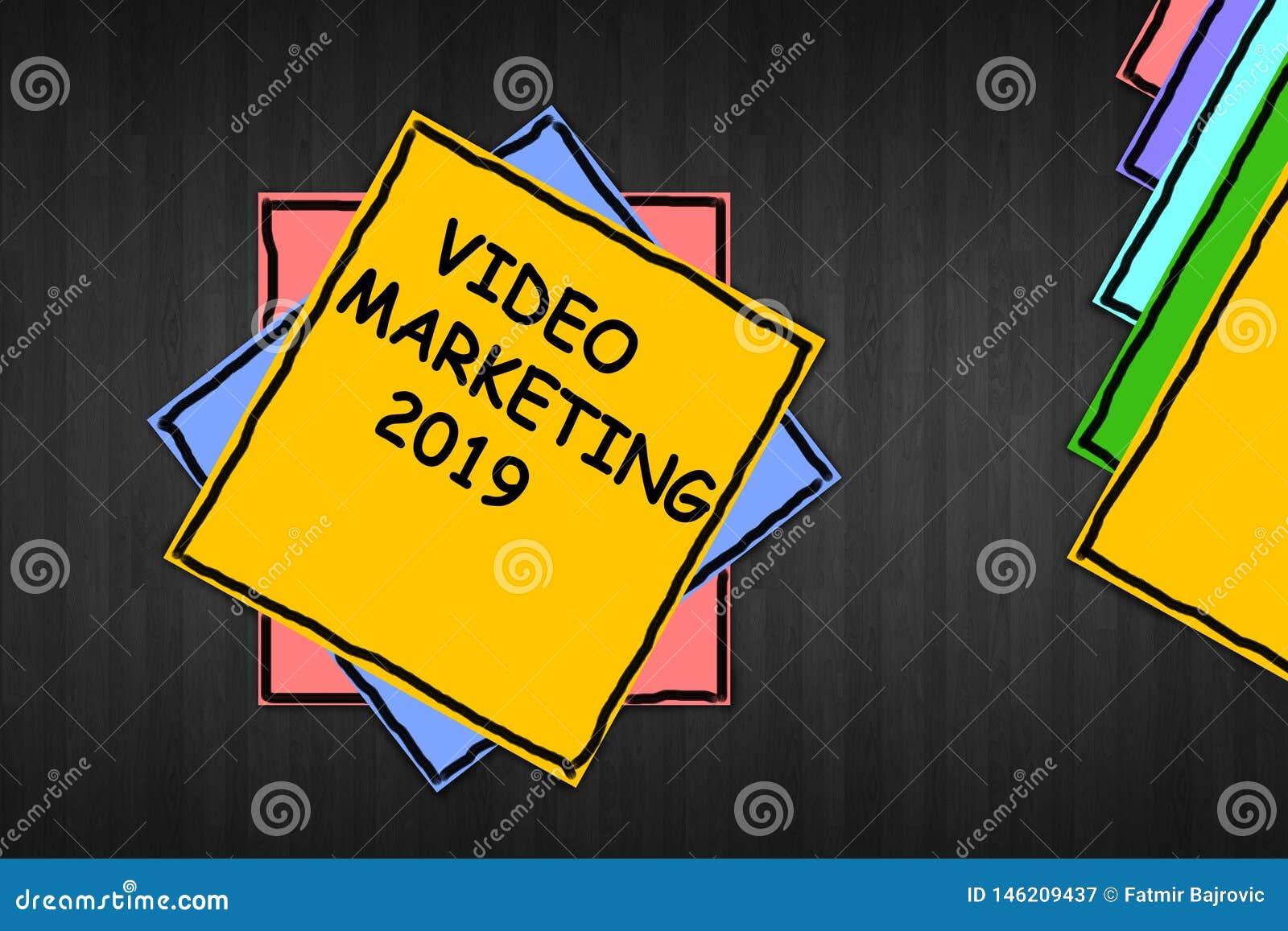 """Σημείωση γραψίματος που παρουσιάζει """"βίντεο που εμπορεύεται το 2019 """""""