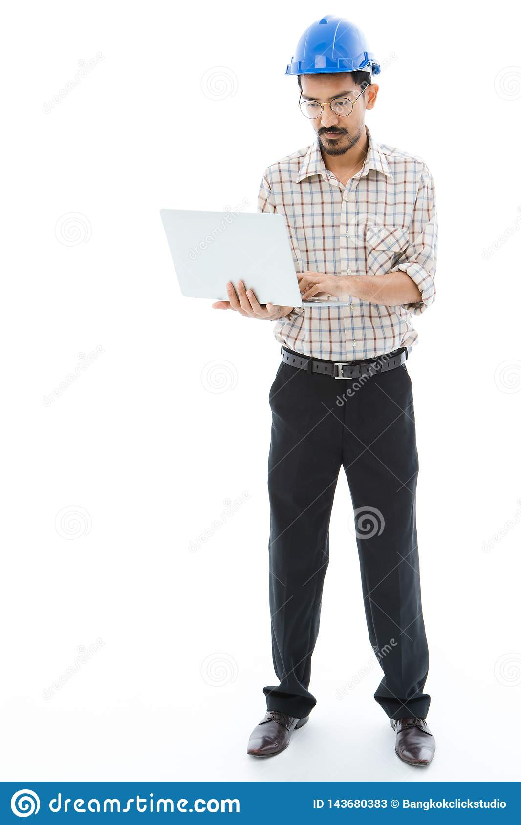 Σημειωματάριο δακτυλογράφησης μπλε κρανών ατόμων μηχανικών