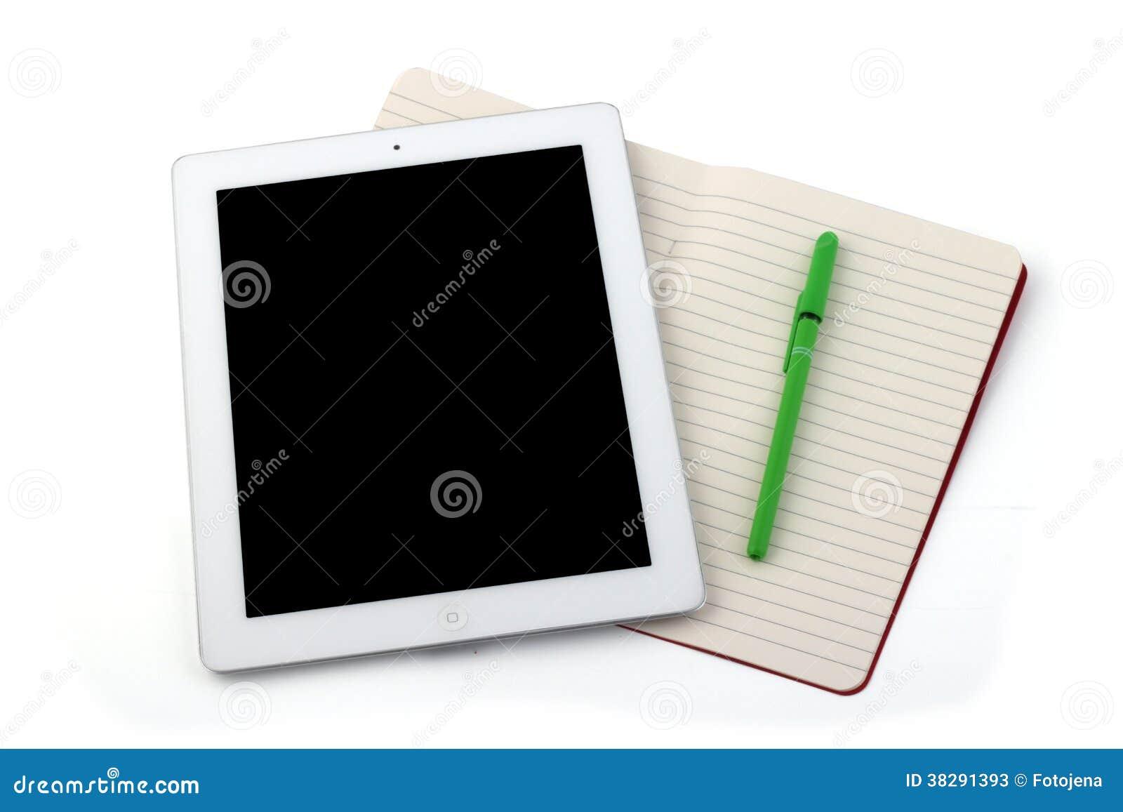 Σημειωματάριο και μολύβι ταμπλετών