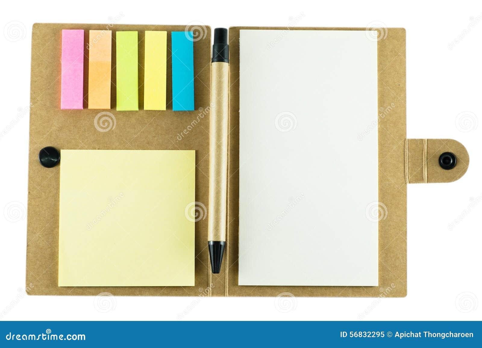 Σημειωματάριο με τη μάνδρα στο άσπρο υπόβαθρο