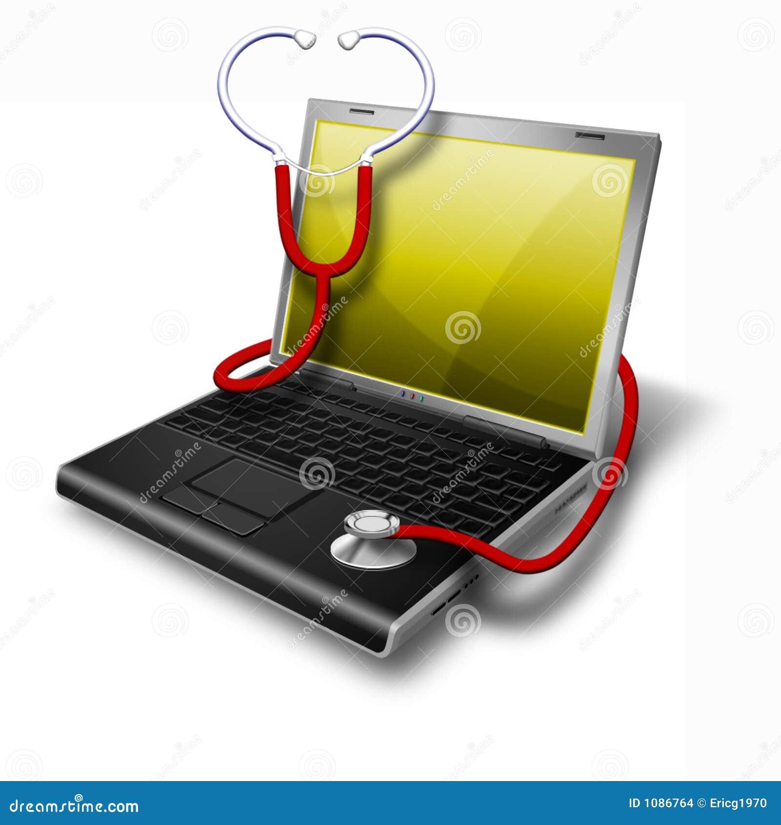 σημειωματάριο lap-top υγείας &kap