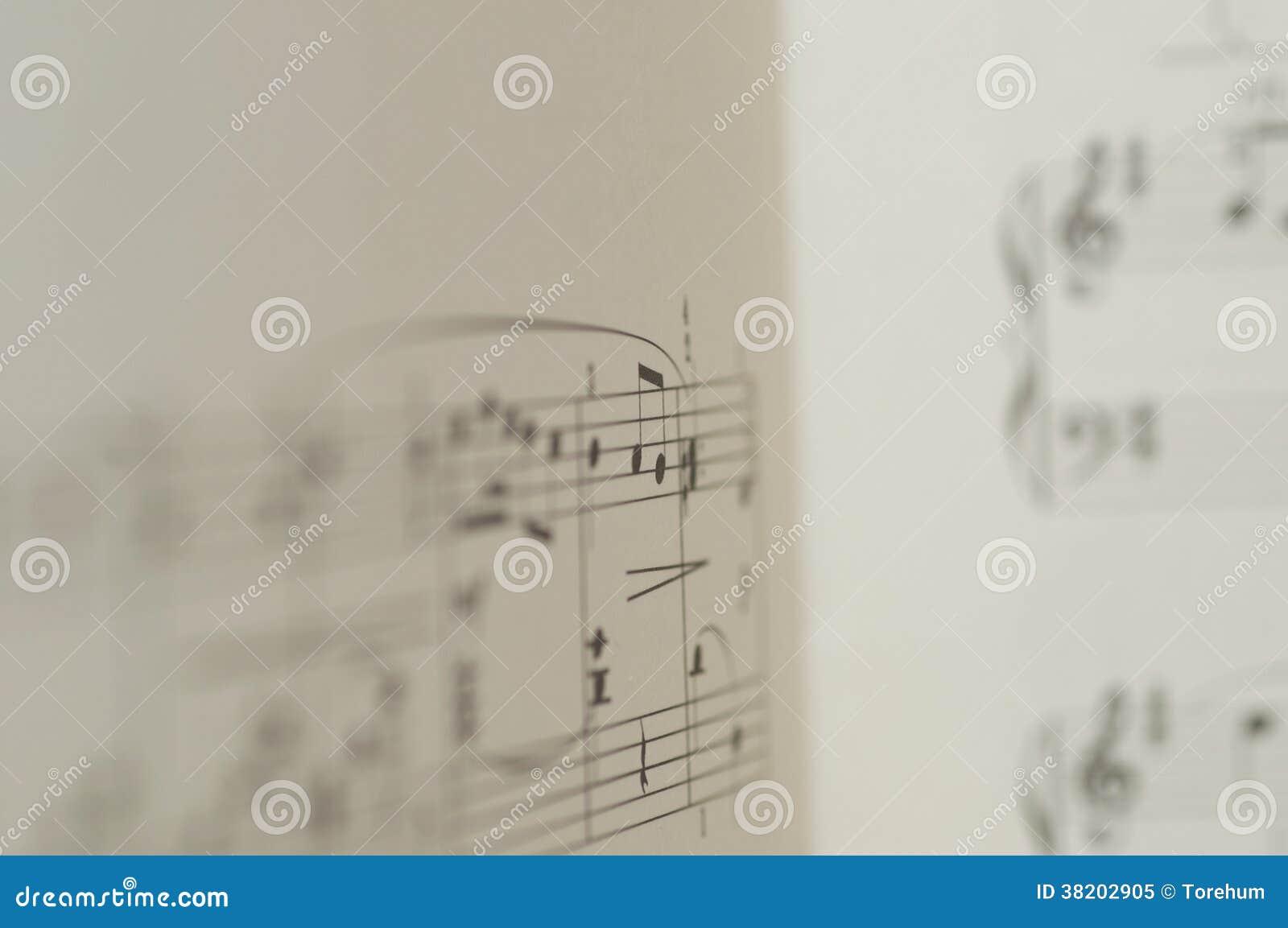 Σημειώσεις μουσικής για το άσπρο υπόβαθρο
