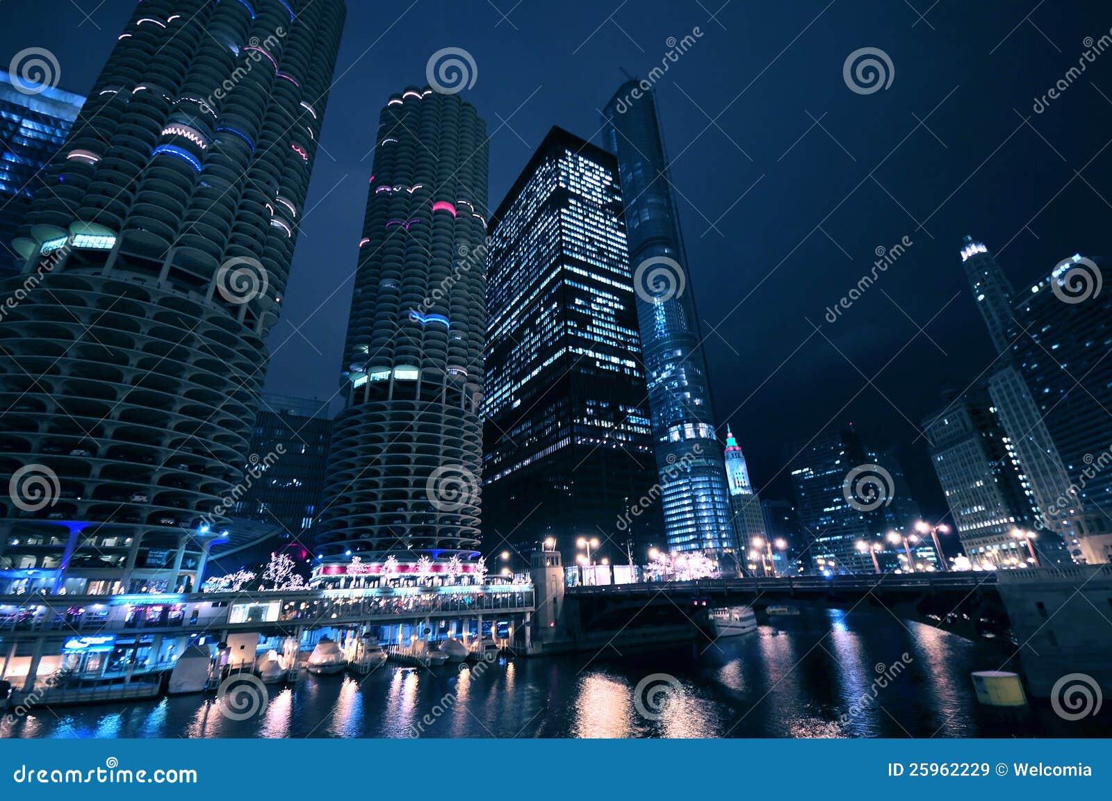 Σικάγο τή νύχτα