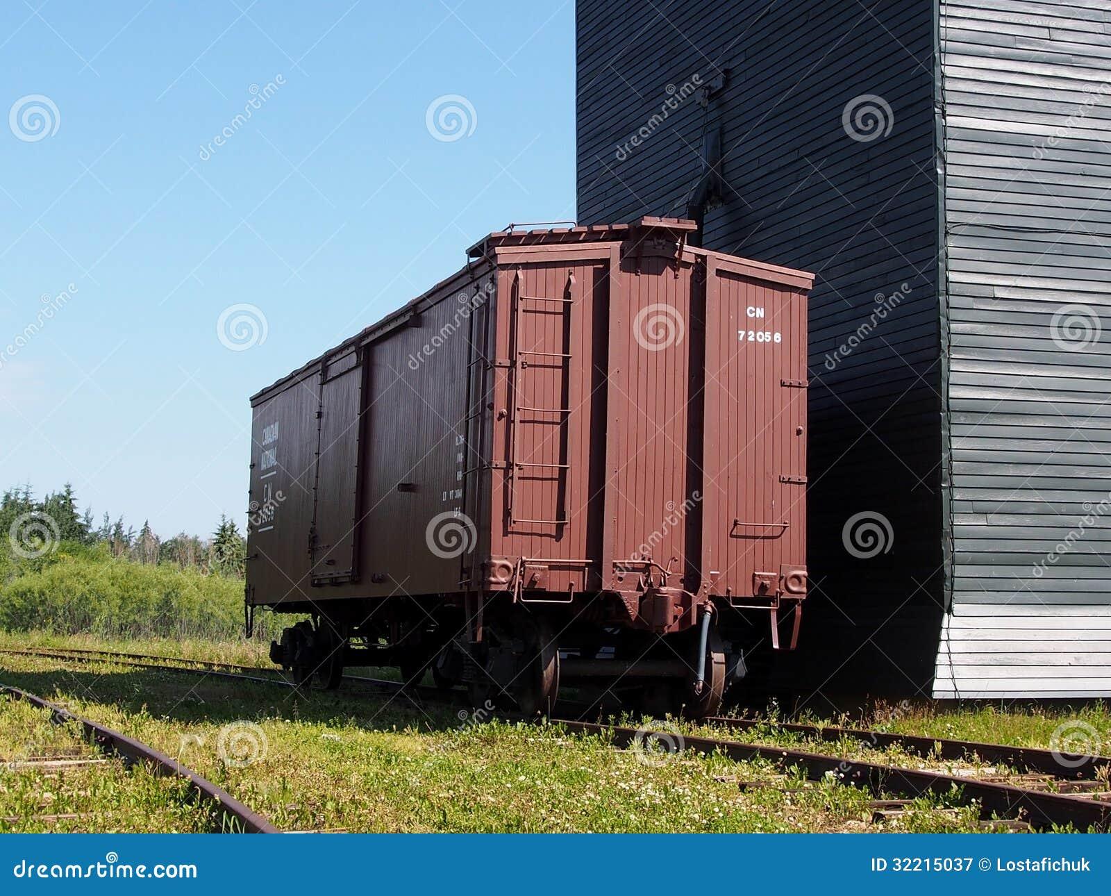 Σιταποθήκη με Boxcar στο ουκρανικό χωριό Αλμπέρτα