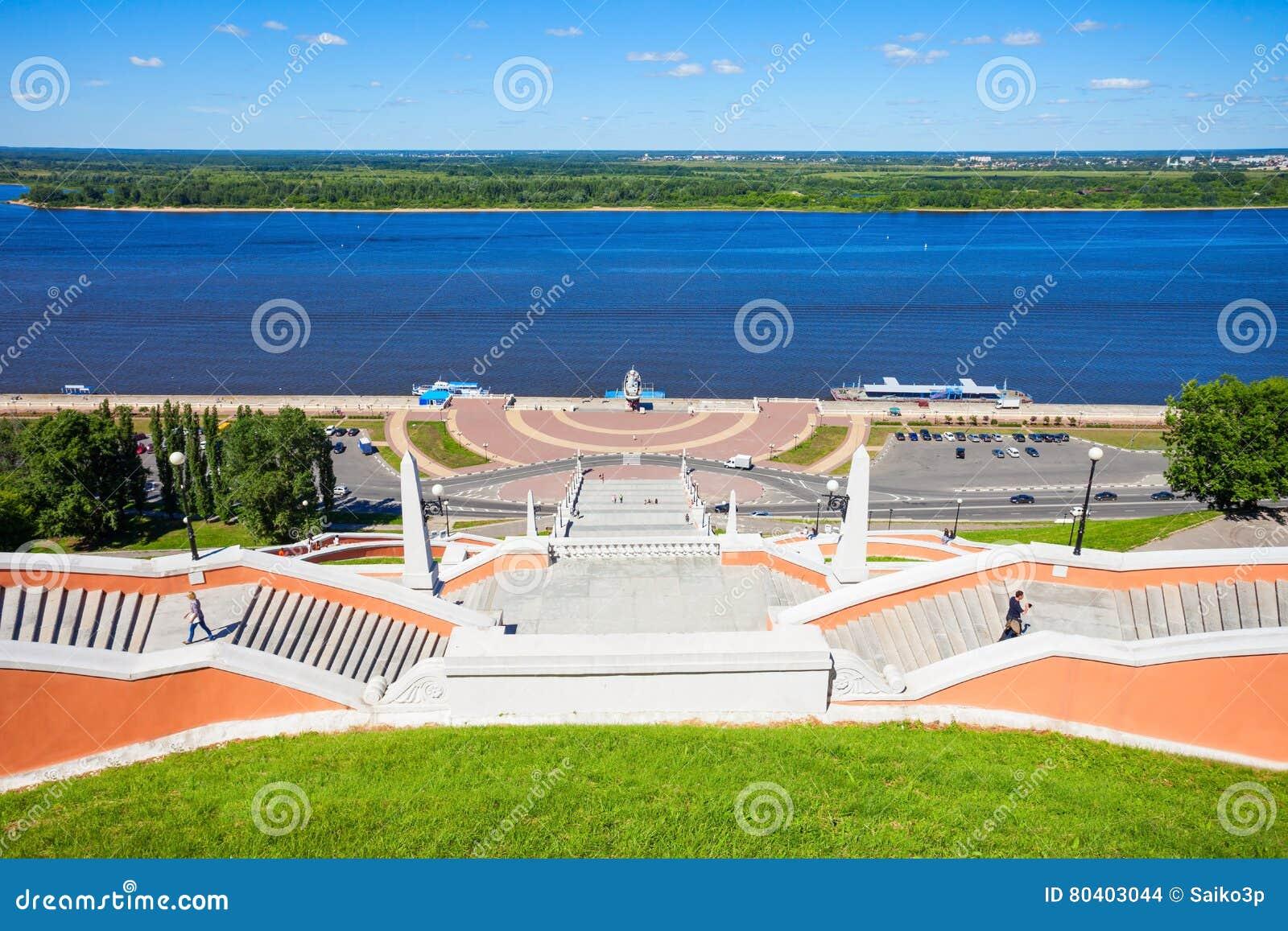 Σκάλα Chkalov, Nizhny Novgorod
