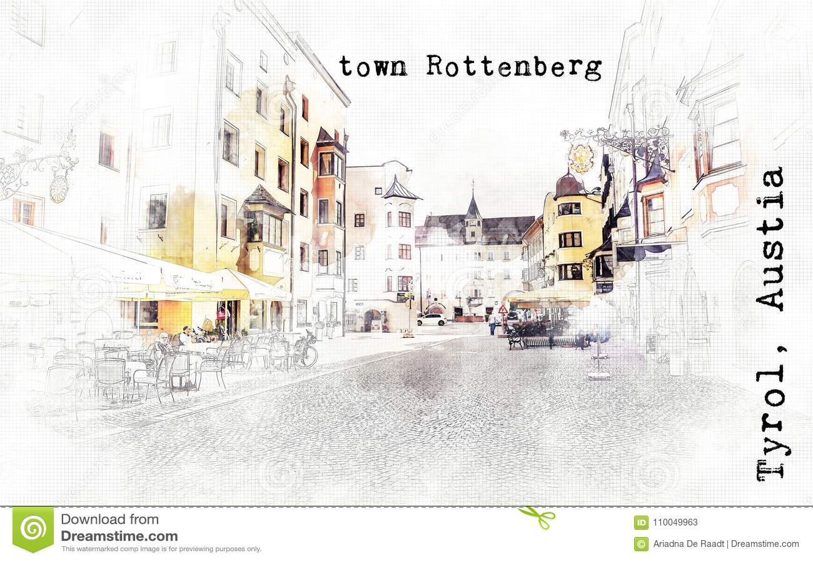 Σκίτσο του αυστριακού ταξιδιού
