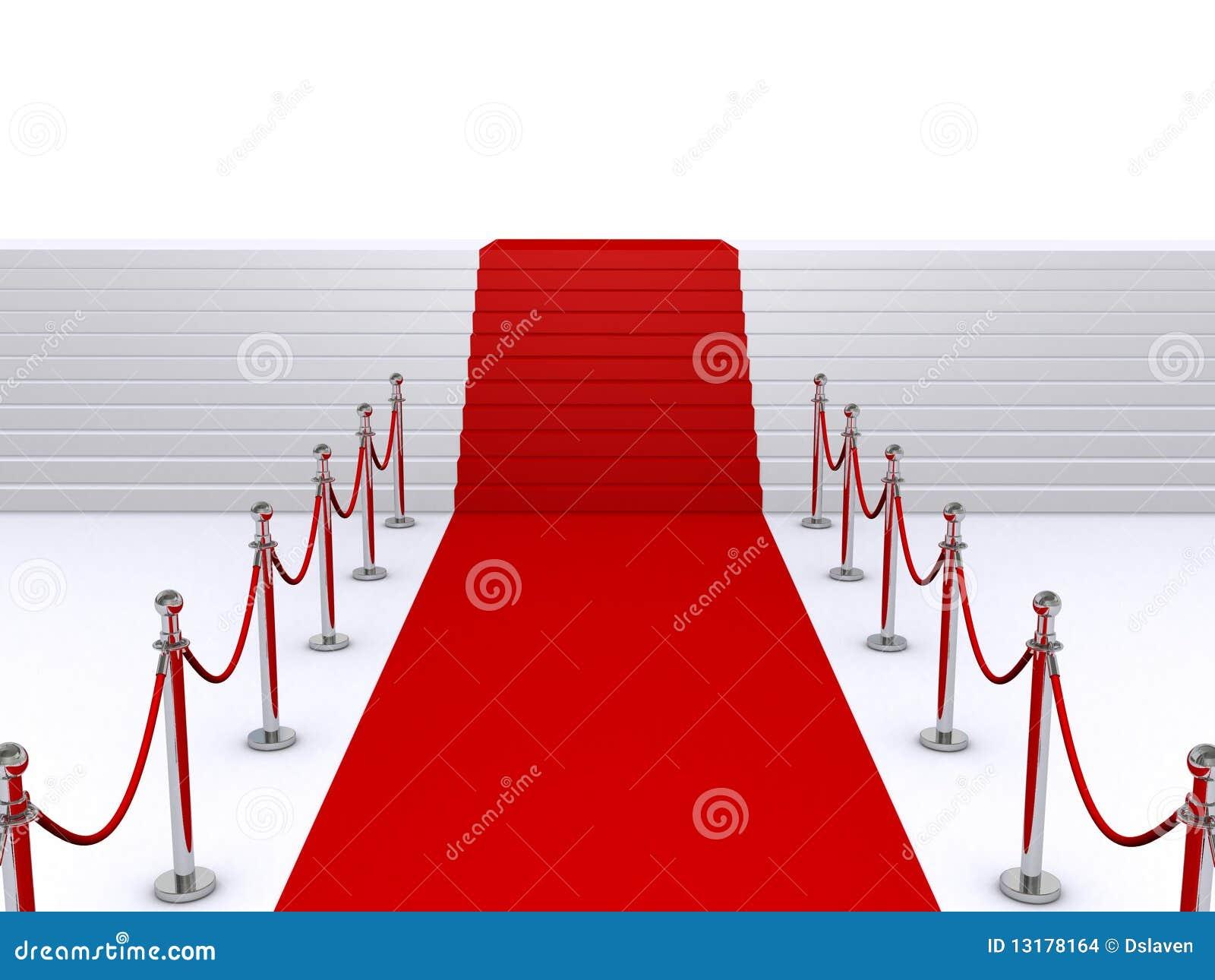 Σκαλοπάτια και κόκκινο χαλί