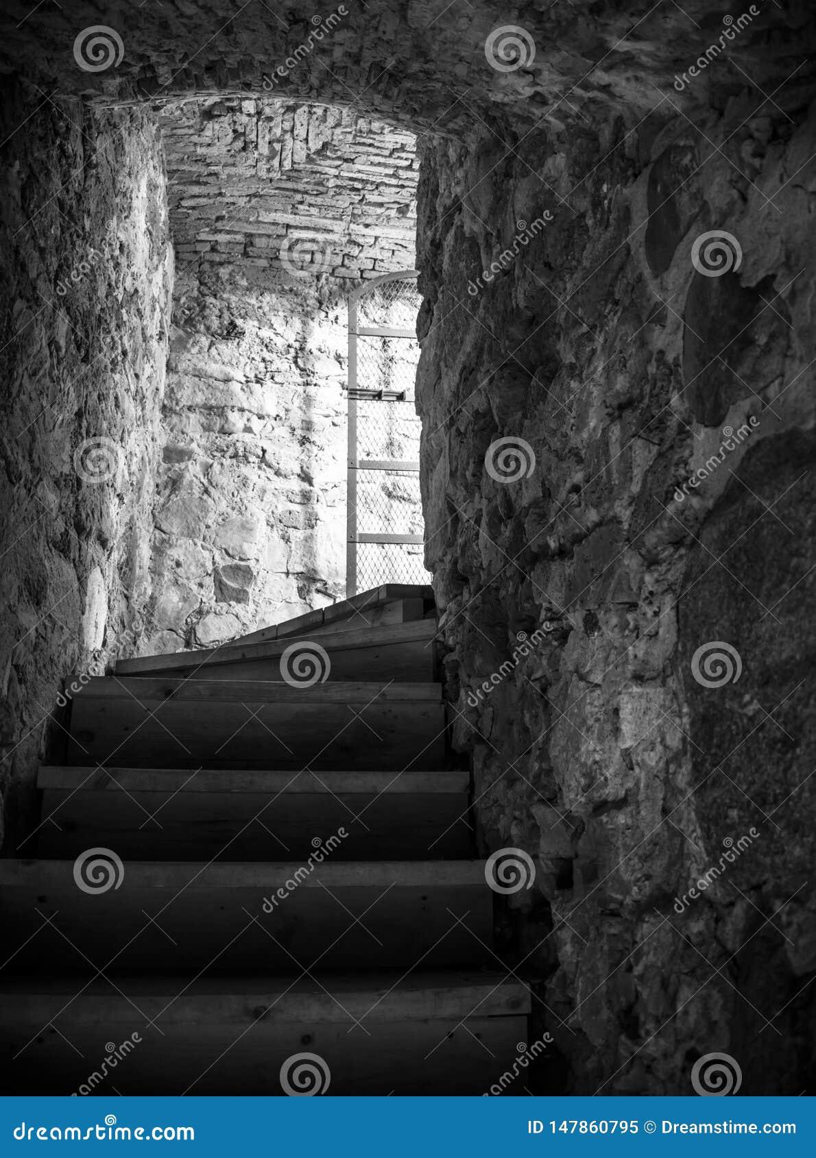 Σκαλοπάτια στο μεσαιωνικό κάστρο