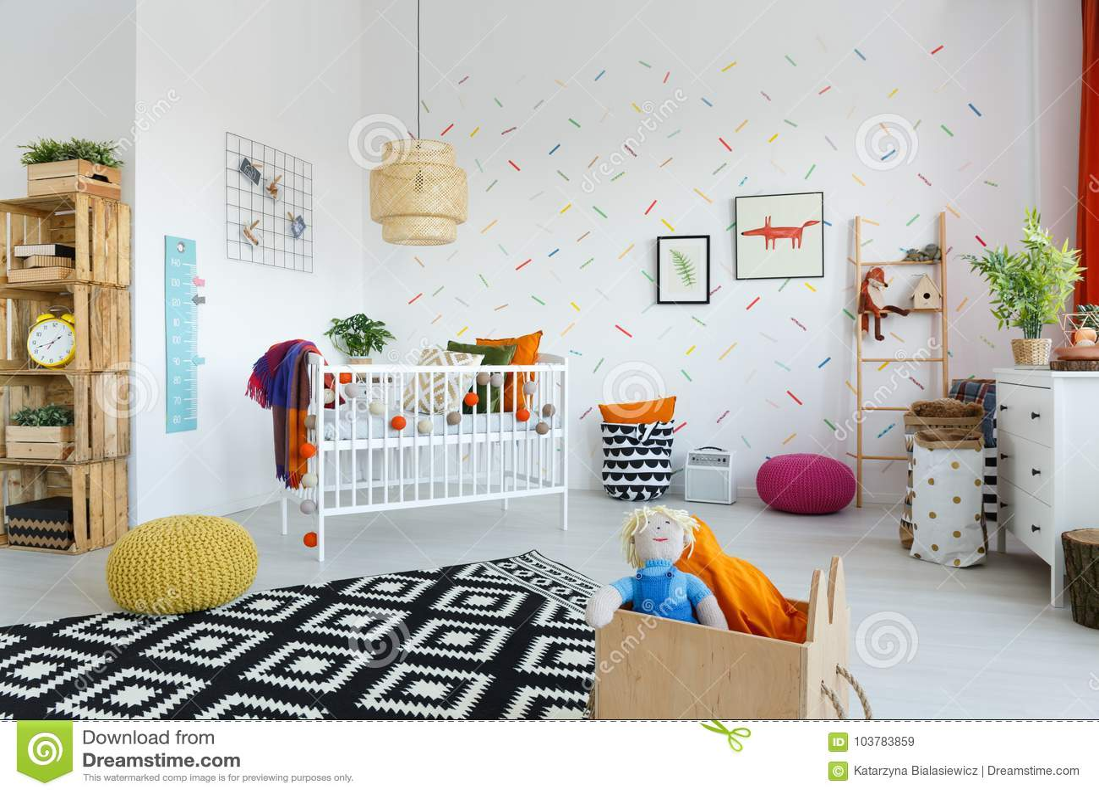 Σκανδιναβικό δωμάτιο μωρών ` s ύφους