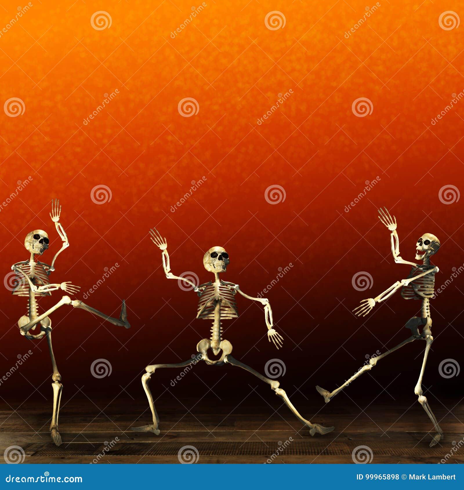 Σκελετοί αποκριών Πορτοκαλιά ανασκόπηση