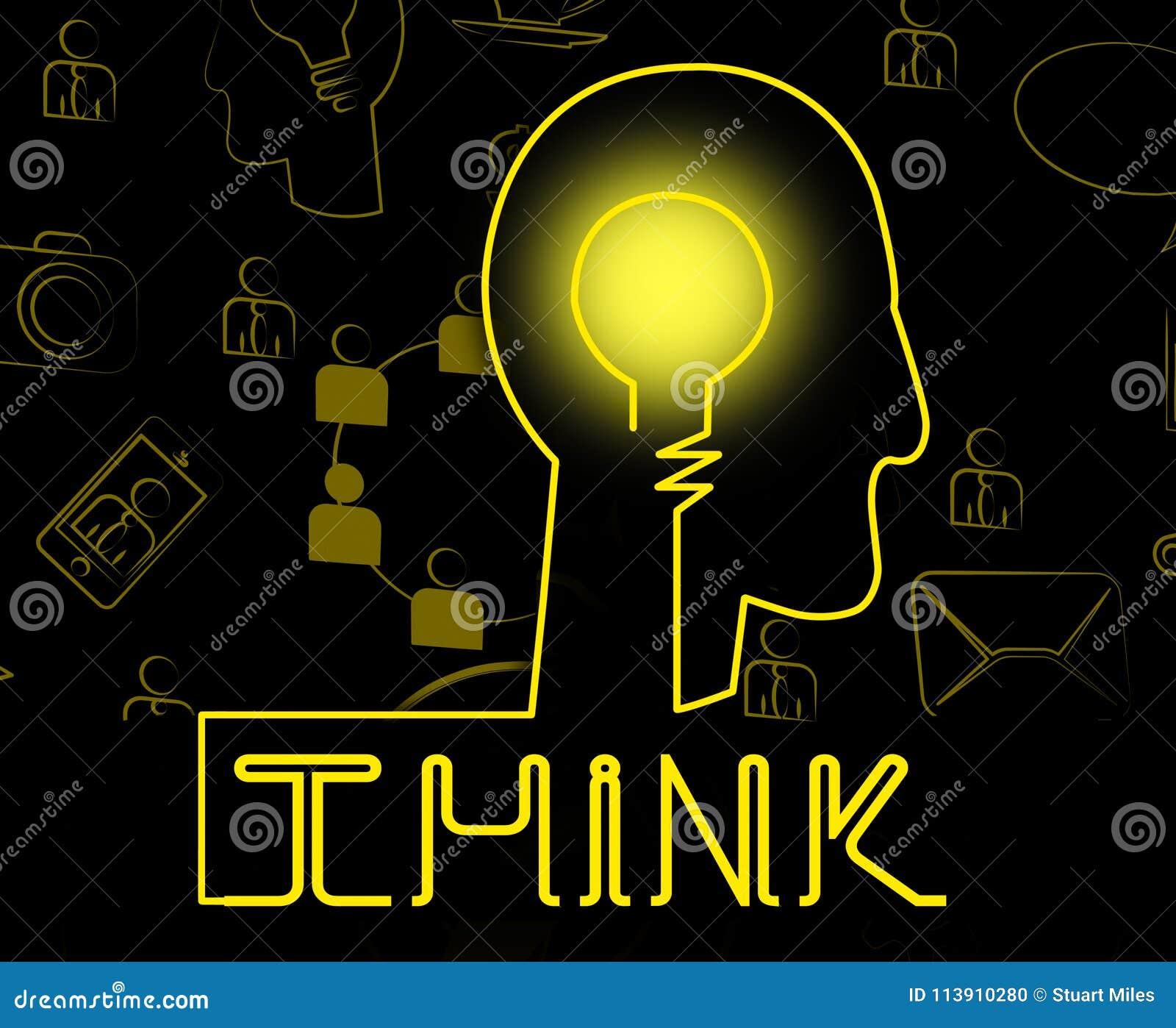 Σκεφτείτε ότι ο εγκέφαλος αντιπροσωπεύει την αντανάκλαση ιδέας και εξετάστε