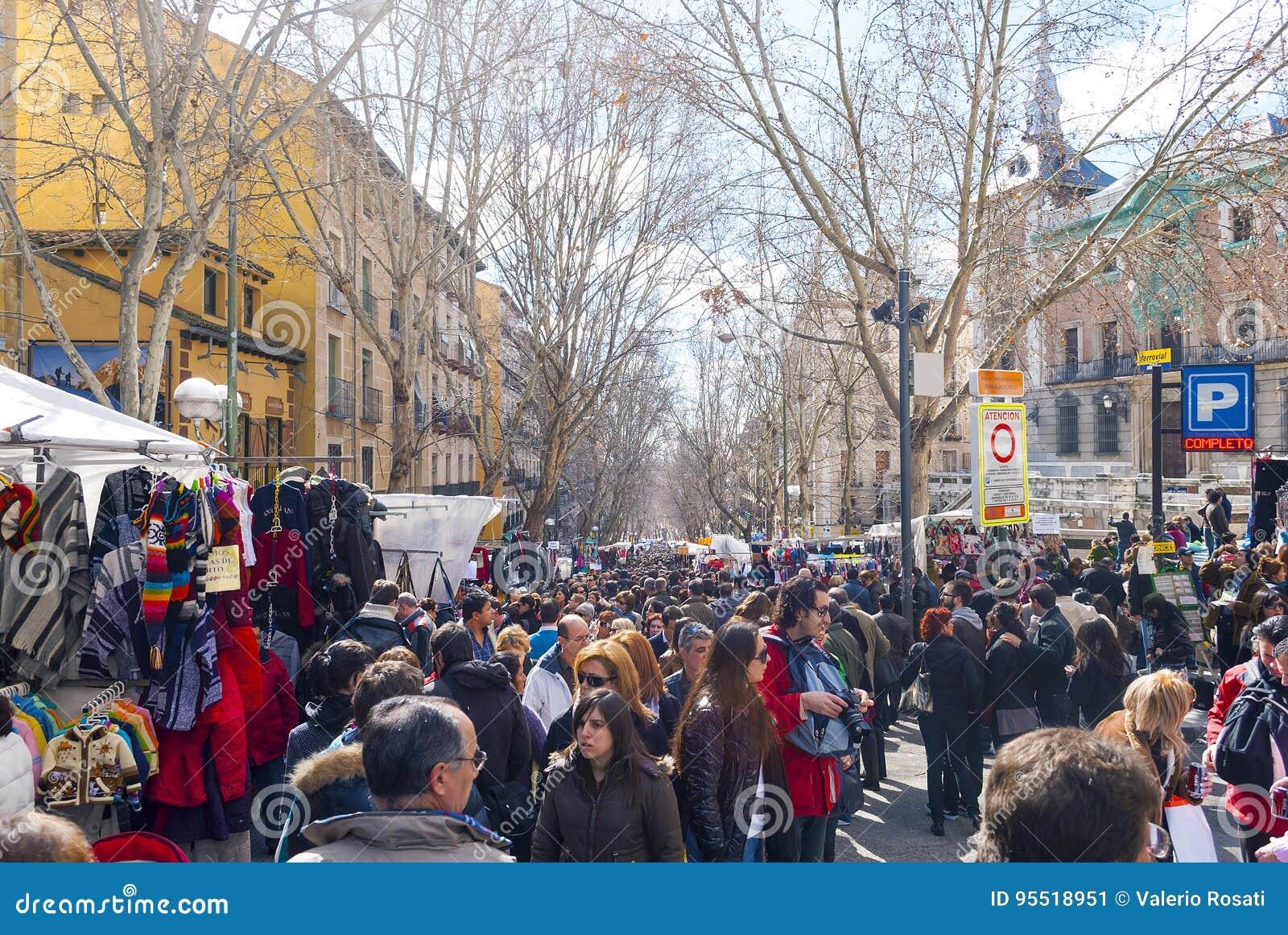 Σκηνή από παζαριών EL Rastro στη Μαδρίτη