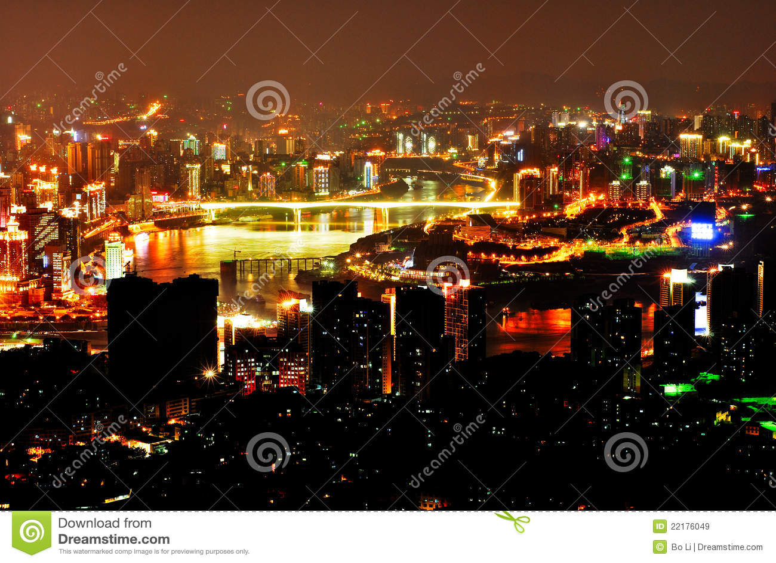 Σκηνή νύχτας Chongqing