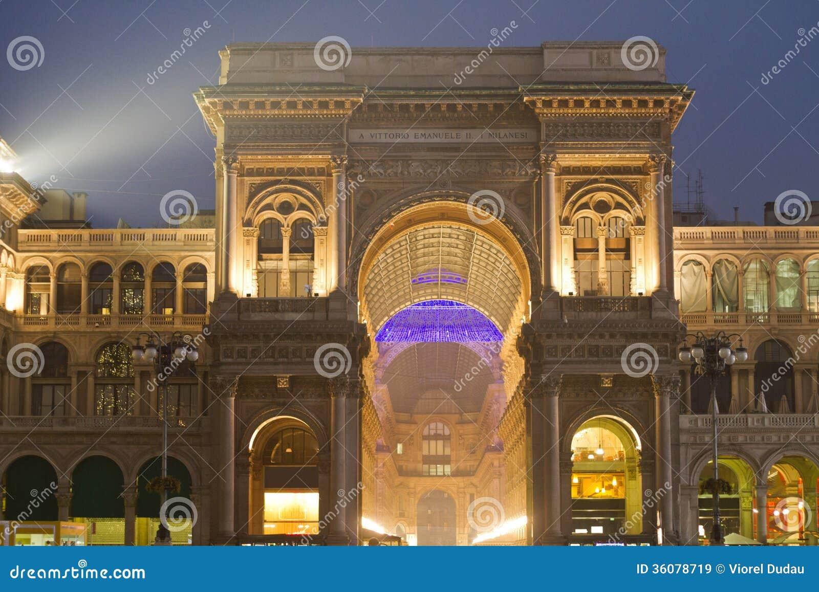 Σκηνή νύχτας Vittorio Emanuele Galleria