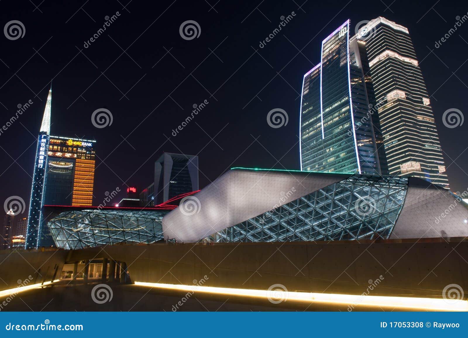 σκηνή οπερών νύχτας guangzhou