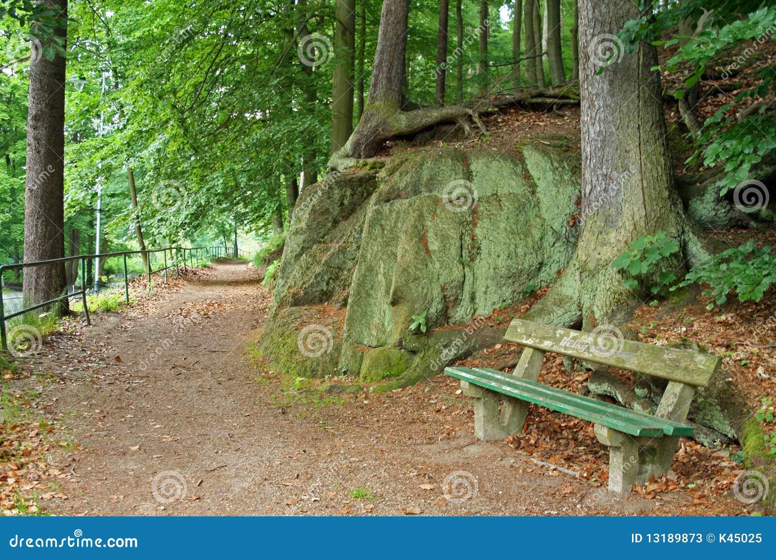 σκηνή πάρκων πάγκων