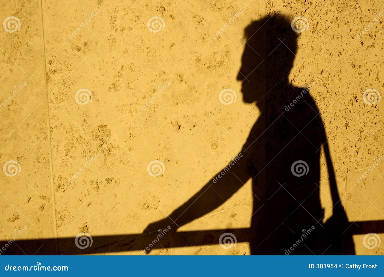 σκιά ατόμων τσαντών
