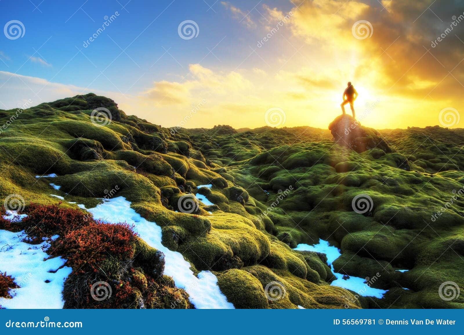 Download Σκιαγραφία ανατολής Eldhraun Στοκ Εικόνα - εικόνα από κρύο, φύση: 56569781