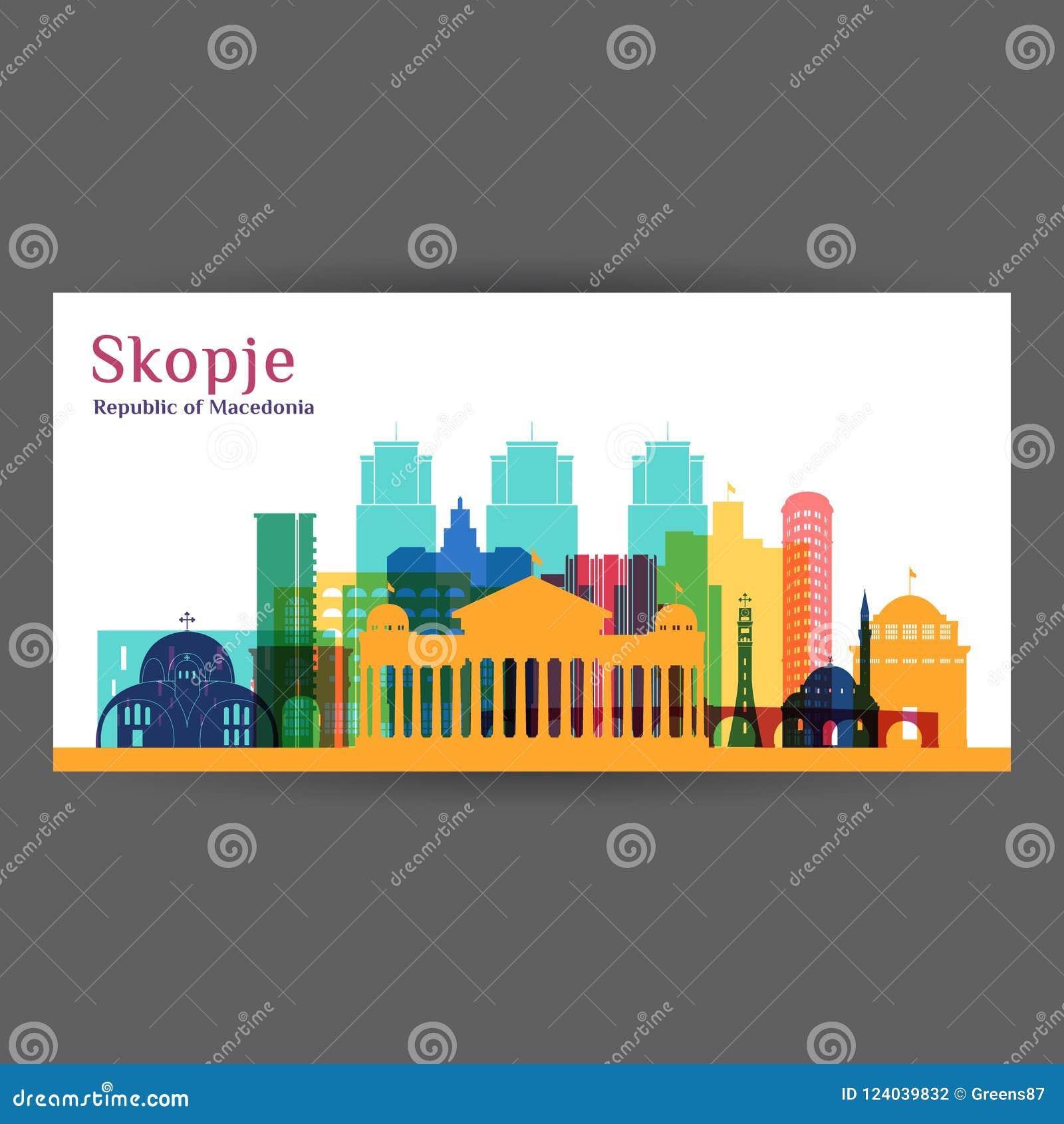 Σκιαγραφία αρχιτεκτονικής πόλεων των Σκόπια