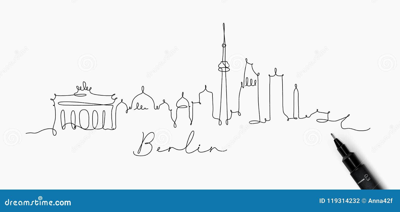 Σκιαγραφία Βερολίνο γραμμών μανδρών