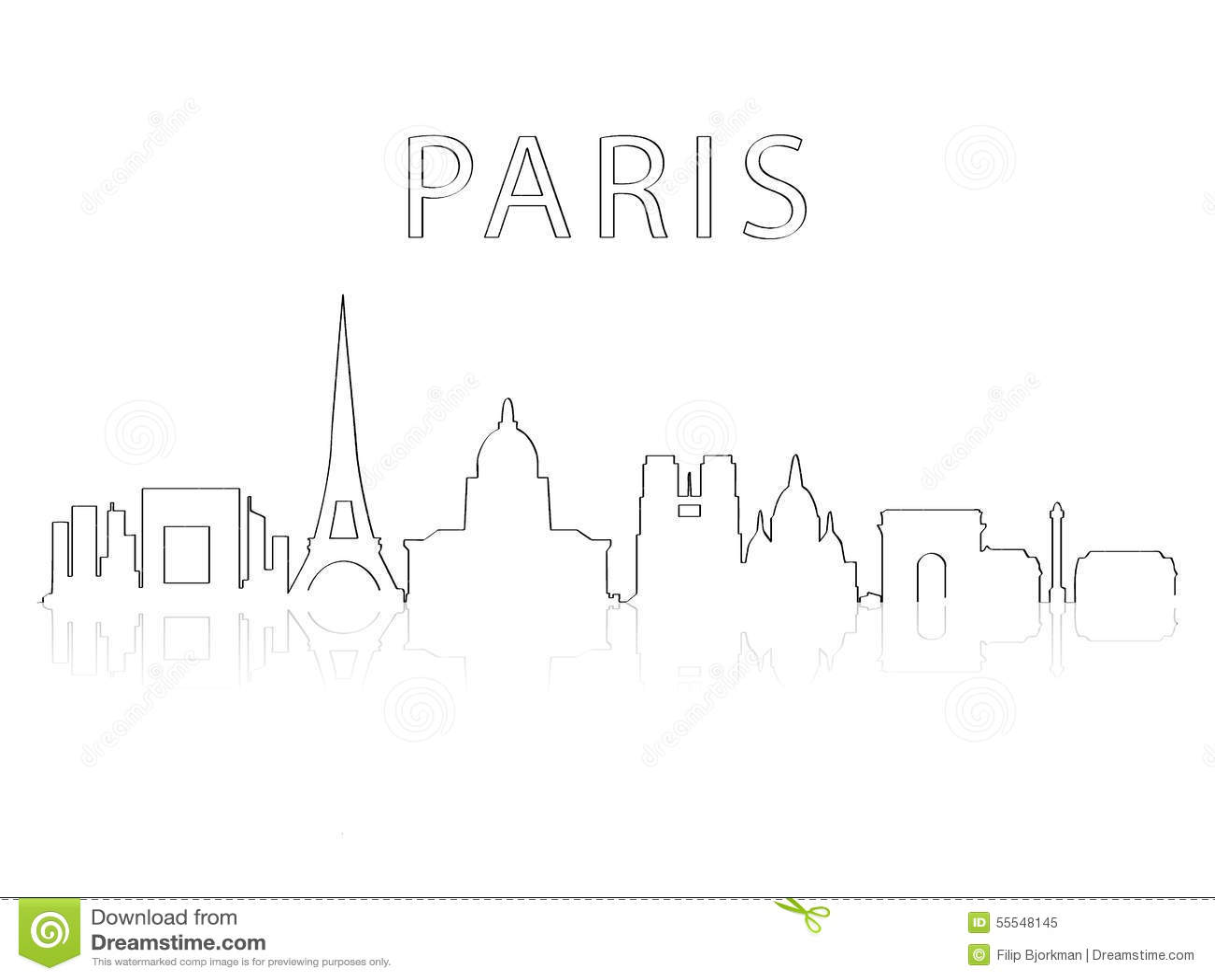 Σκιαγραφία Παρίσι πόλεων