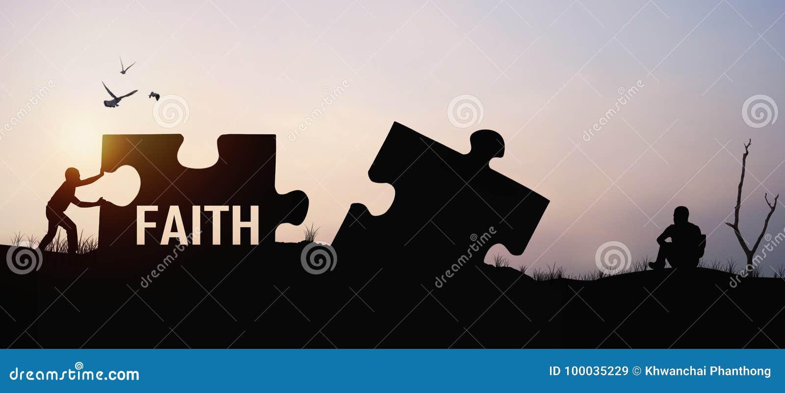 σκιαγραφία του τορνευτικού πριονιού ώθησης ατόμων για τη σύνδεση με την ελπίδα και την πίστη