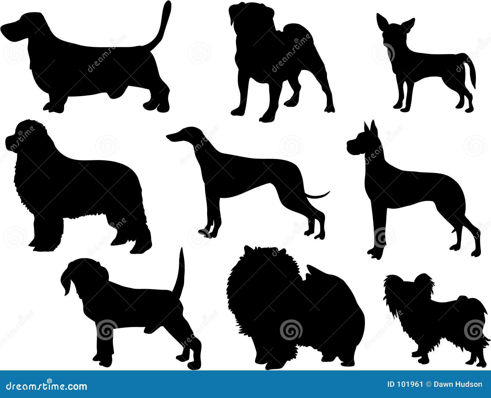 σκιαγραφίες σκυλιών