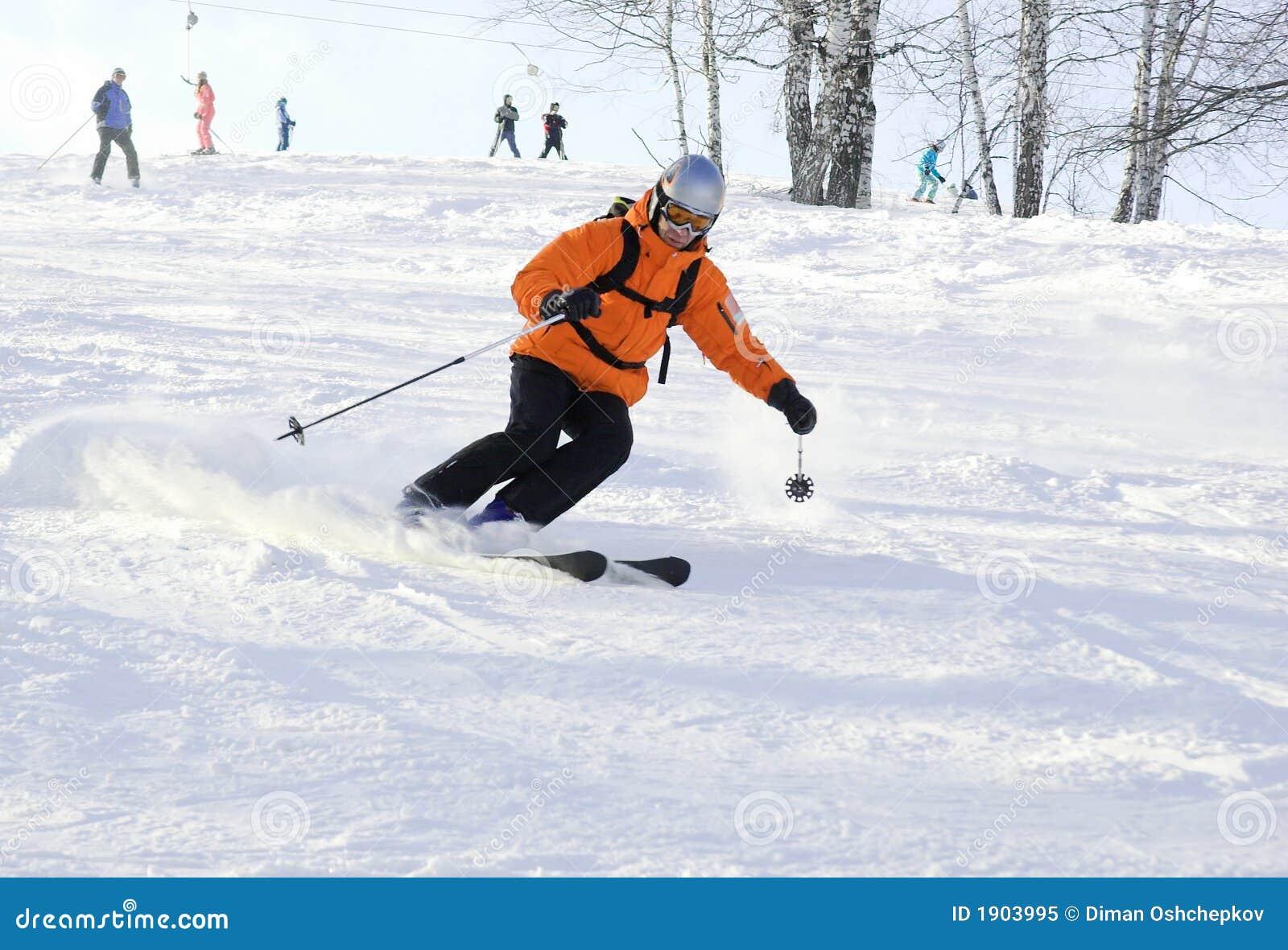 σκι αναβατών βουνών
