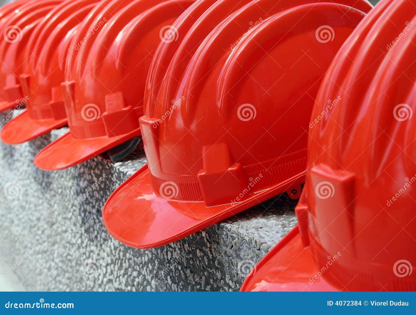 σκληρό κόκκινο καπέλων
