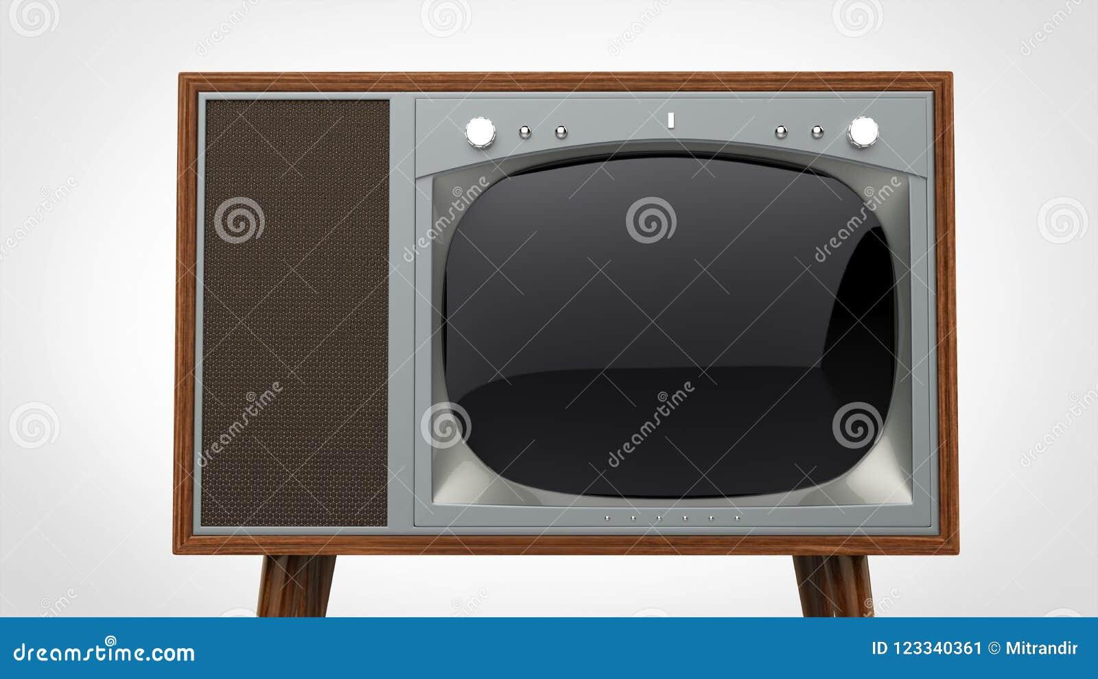 Σκοτεινή ξύλινη εκλεκτής ποιότητας συσκευή τηλεόρασης με το ασημένιο μέτωπο
