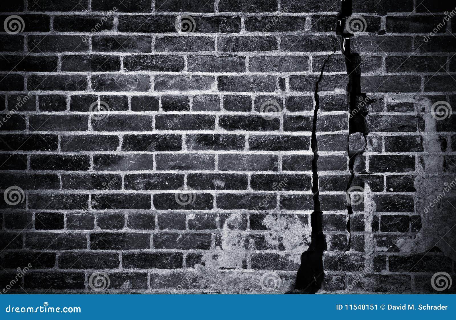 σκοτεινός τοίχος τούβλ&omicr