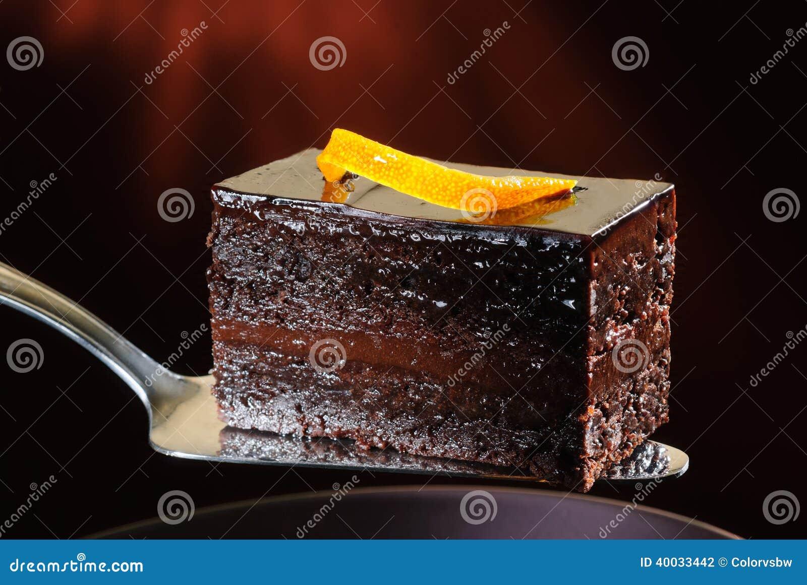 Σκοτεινό κέικ σοκολάτας