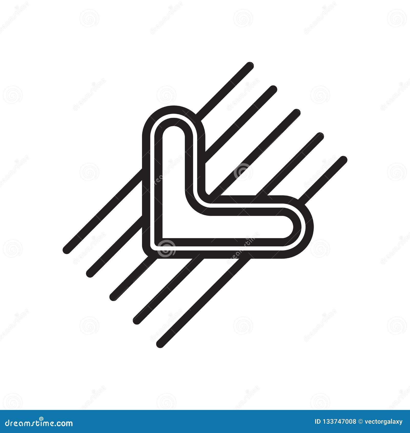 Σκουπίστε σημάδι και το σύμβολο εικονιδίων το διανυσματικό που απομονώνονται στο άσπρο υπόβαθρο, W