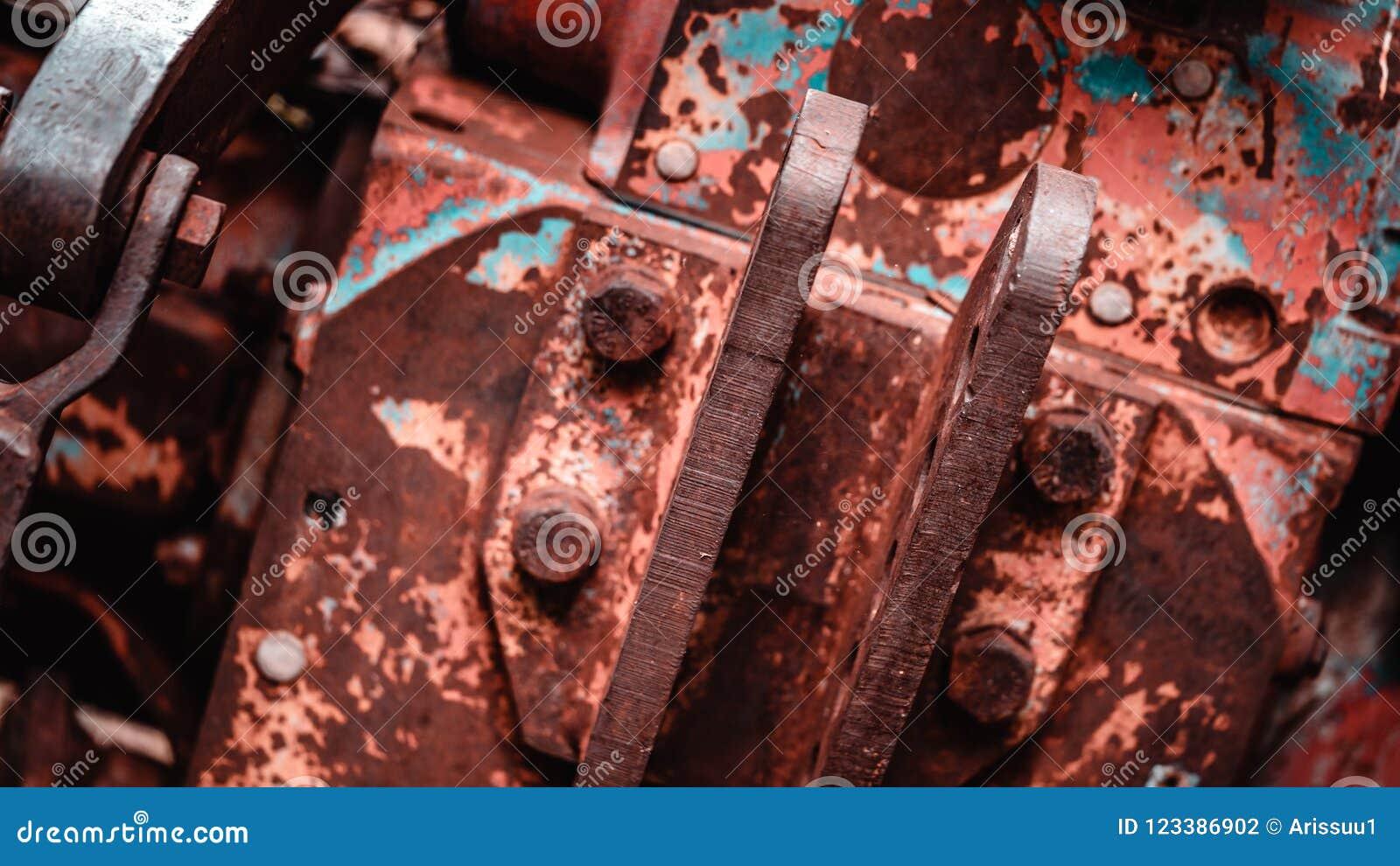 Σκουριασμένο υπόβαθρο σύστασης ενώσεων χάλυβα