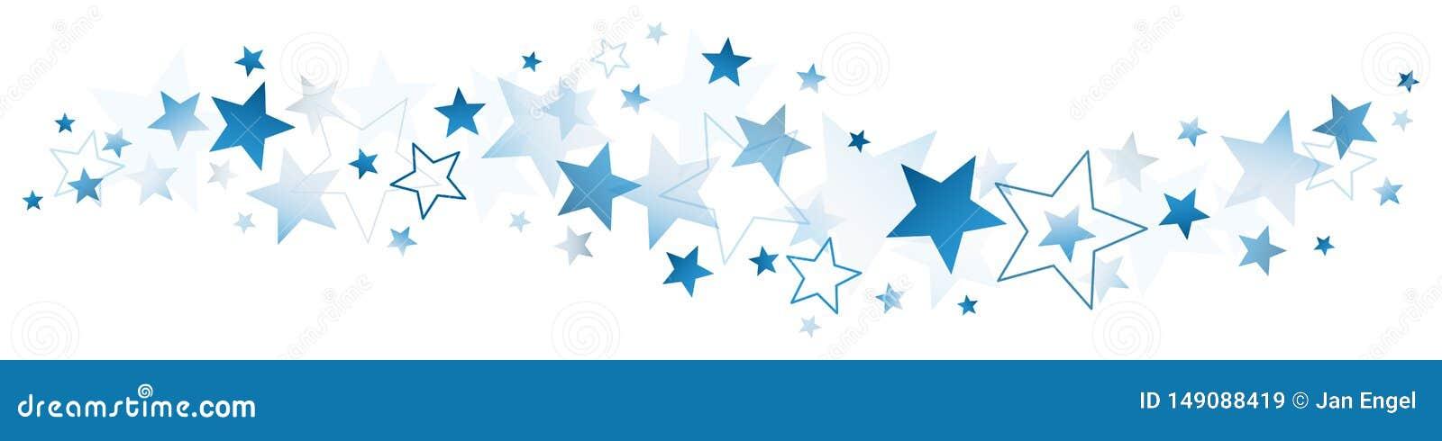 Σκούρο μπλε μεγάλα και μικρά αστέρια