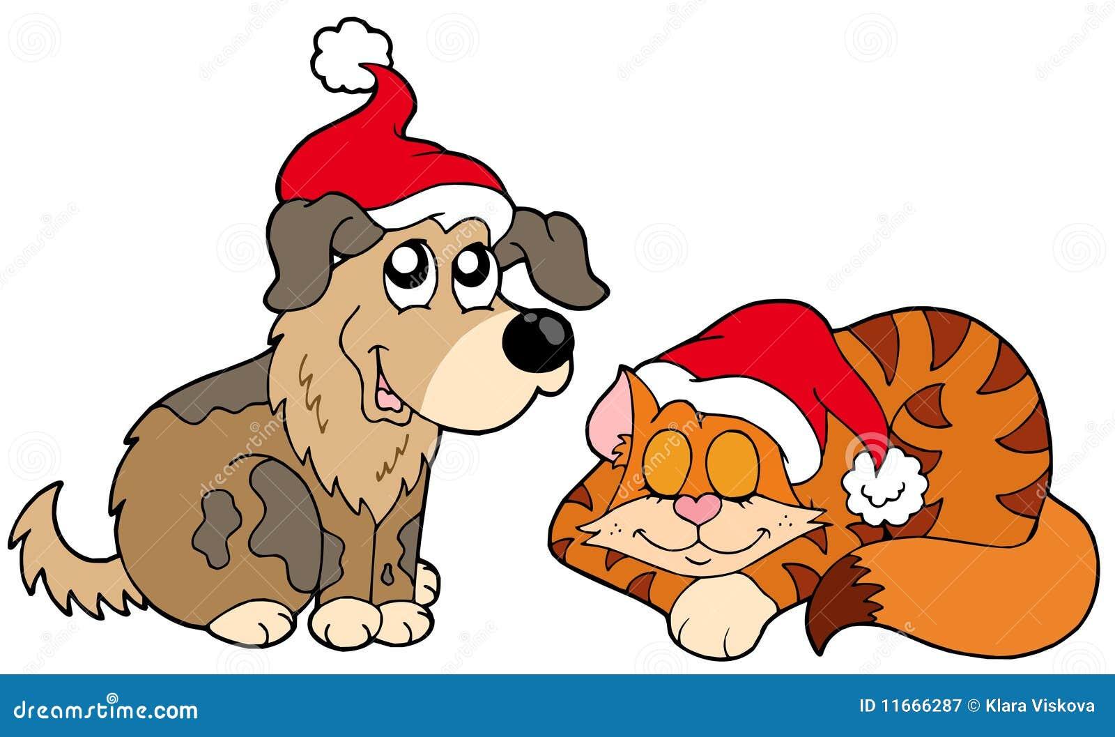 σκυλί Χριστουγέννων γατώ&nu