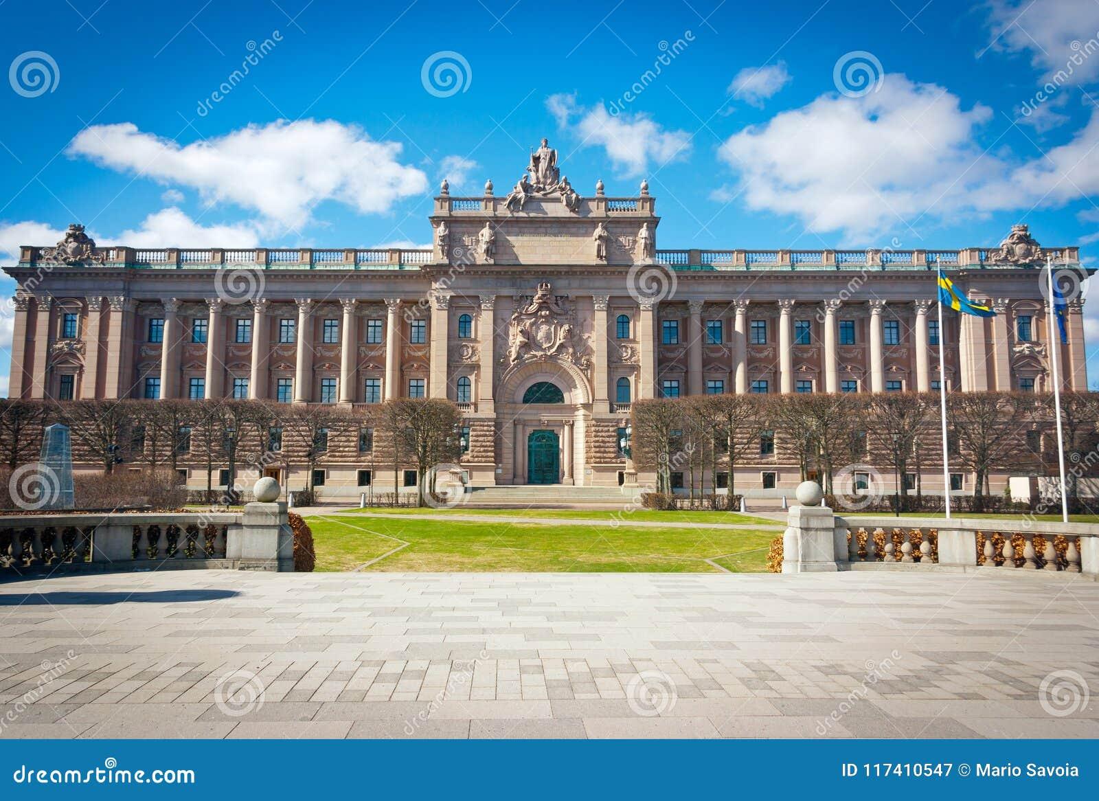Σουηδική πρόσοψη σπιτιών του Κοινοβουλίου