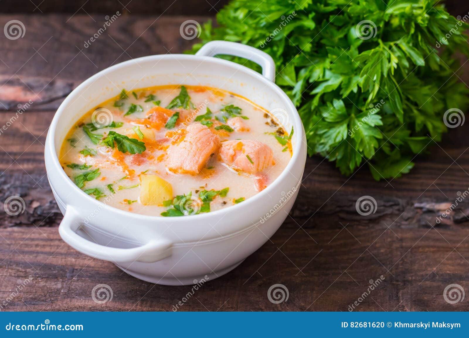 Σούπα με το σολομό Φινλανδία