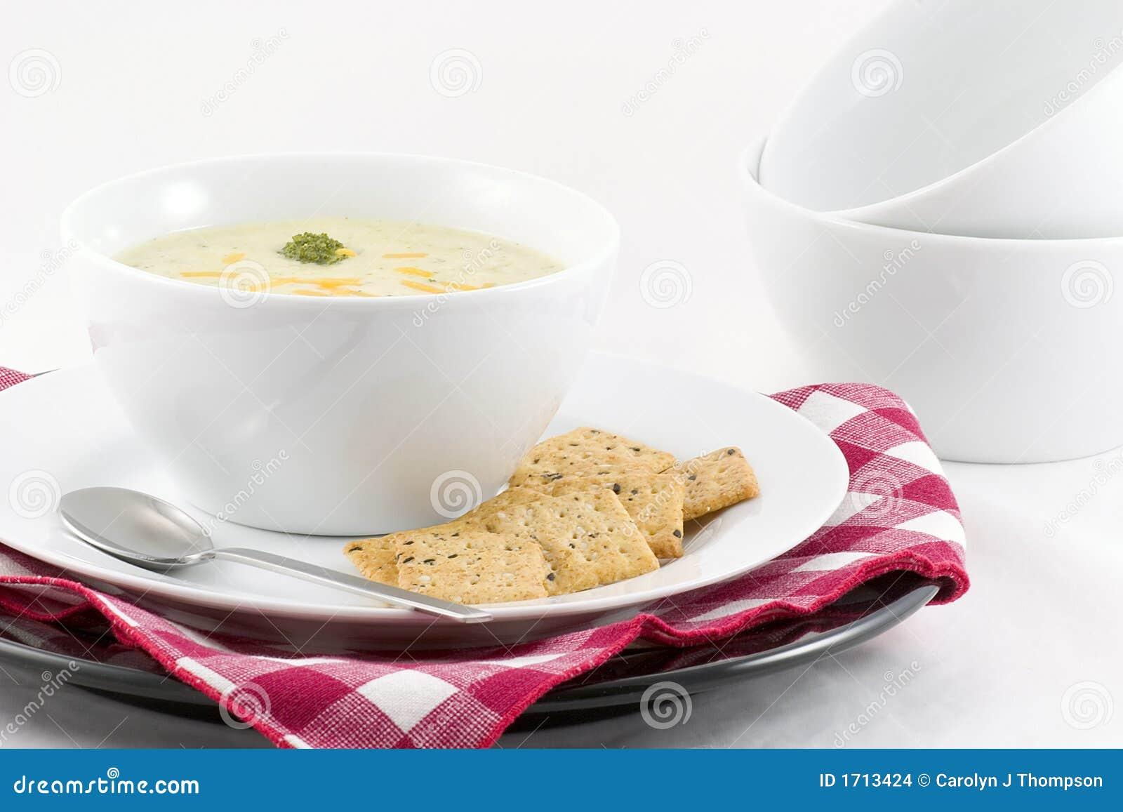 σούπα τυριών μπρόκολου