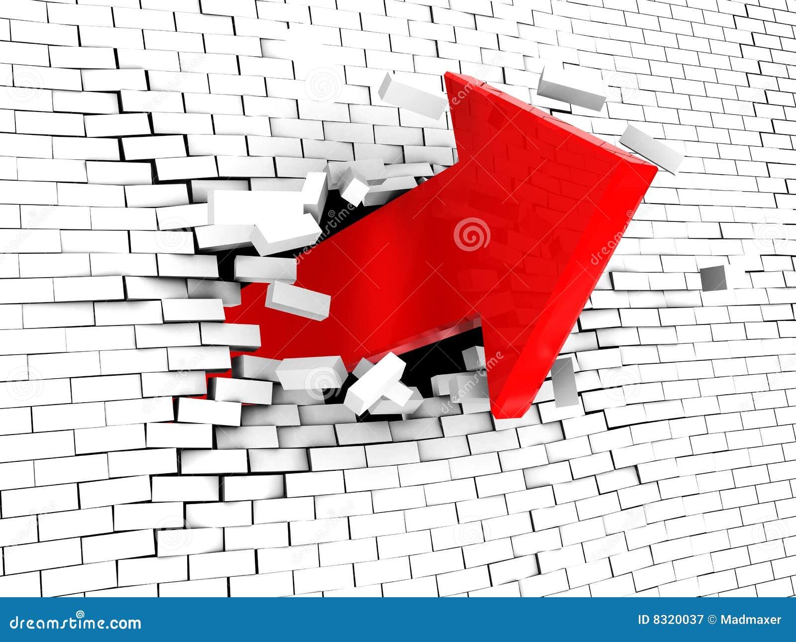 σπάζοντας τοίχος βελών