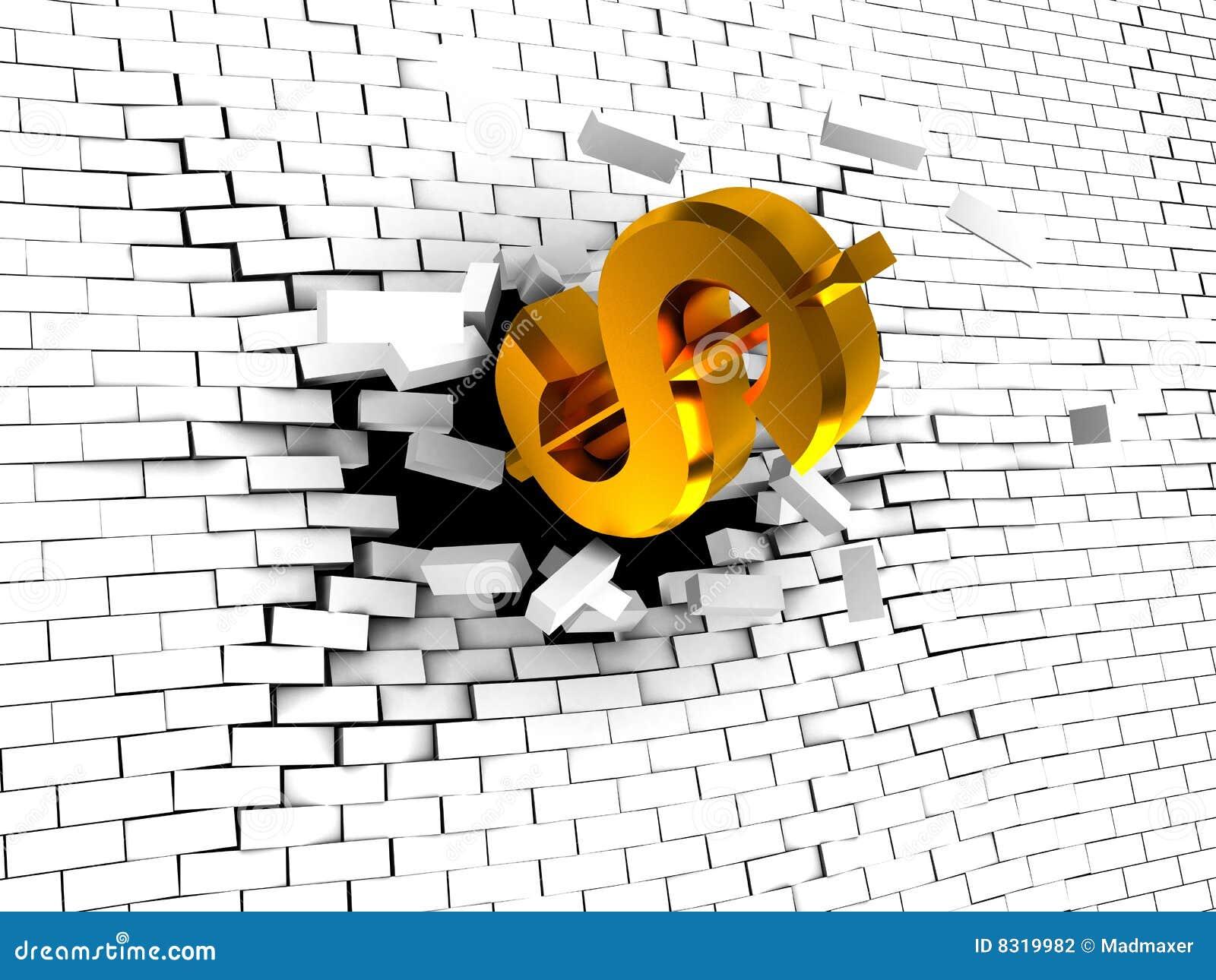 σπάζοντας τοίχος δολαρί&om