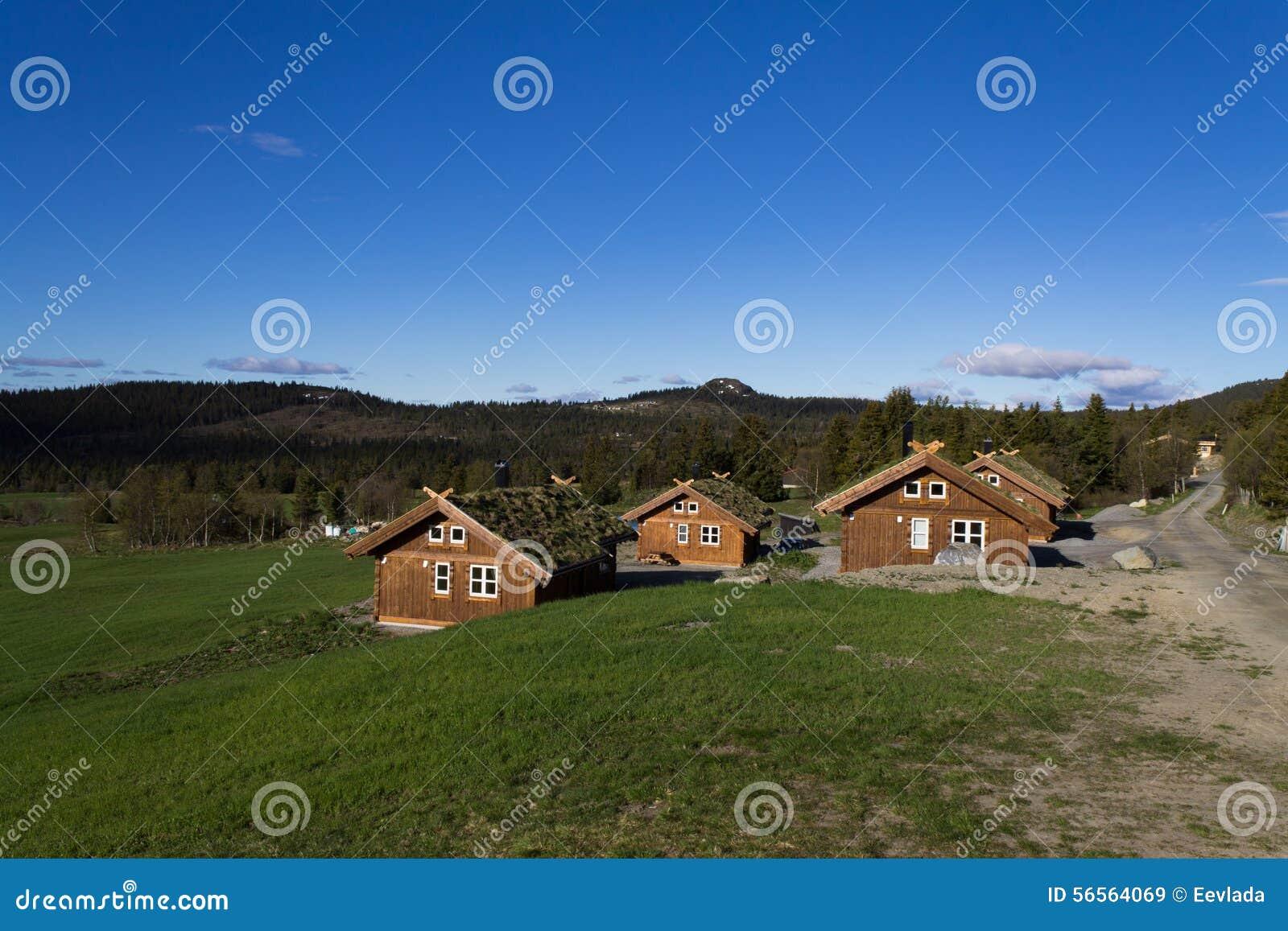 Download σπίτια νορβηγικά στοκ εικόνα. εικόνα από σκανδιναβία - 56564069