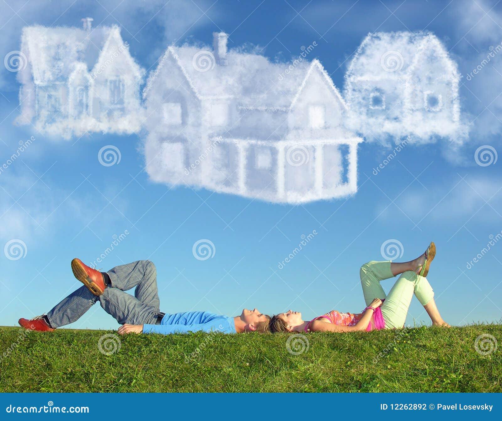 σπίτια τρία χλόης ονείρου ζ