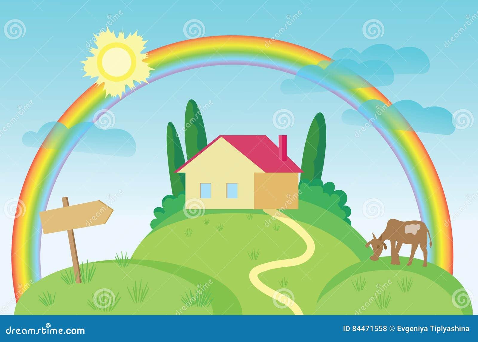 Σπίτι και μια αγελάδα