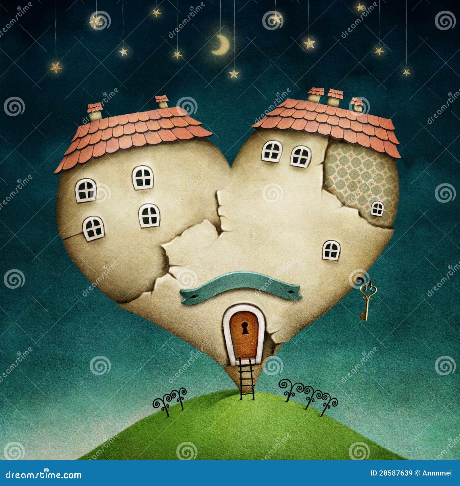 Σπίτι με μορφή της καρδιάς