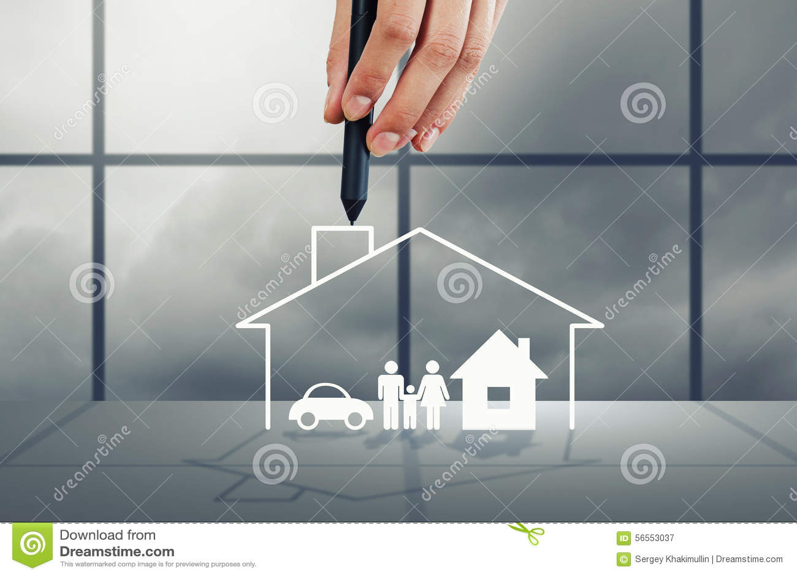Download σπίτι ονείρου σας στοκ εικόνα. εικόνα από ευτυχία, πρόγονος - 56553037