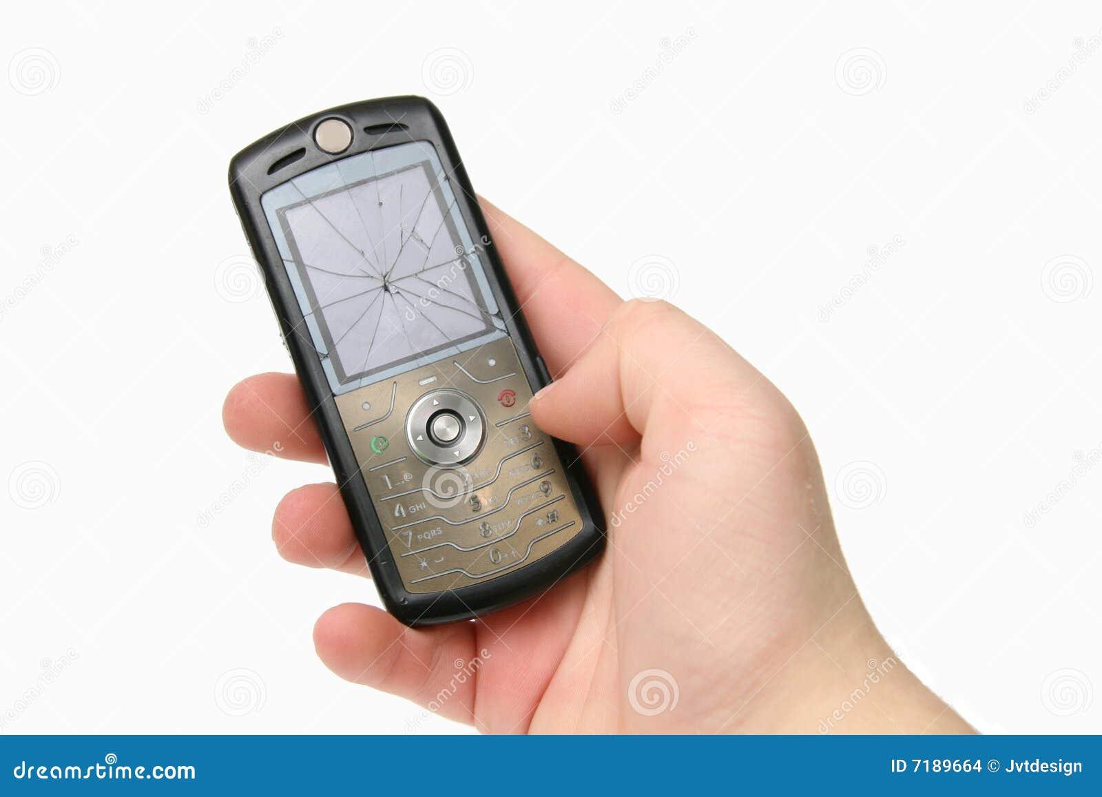 σπασμένο ραγισμένο κινητό τ&